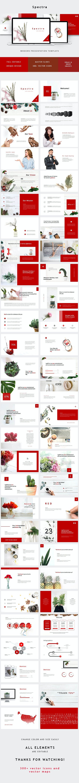 Red Minimal Powerpoint - PowerPoint Templates Presentation Templates