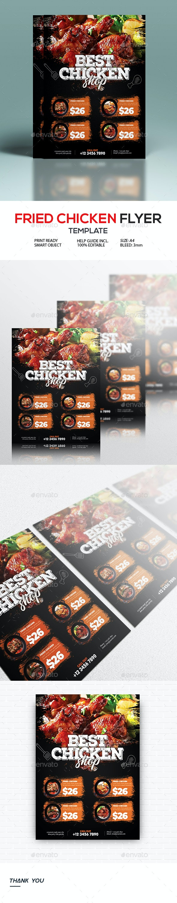 Fried Chicken Flyer - Restaurant Flyers