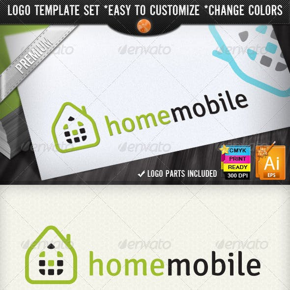 Smart Phone Networking Home Mobile Logo Designs