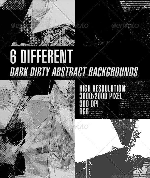 Dark Dirty Abstract Backgrounds v1 - Abstract Backgrounds