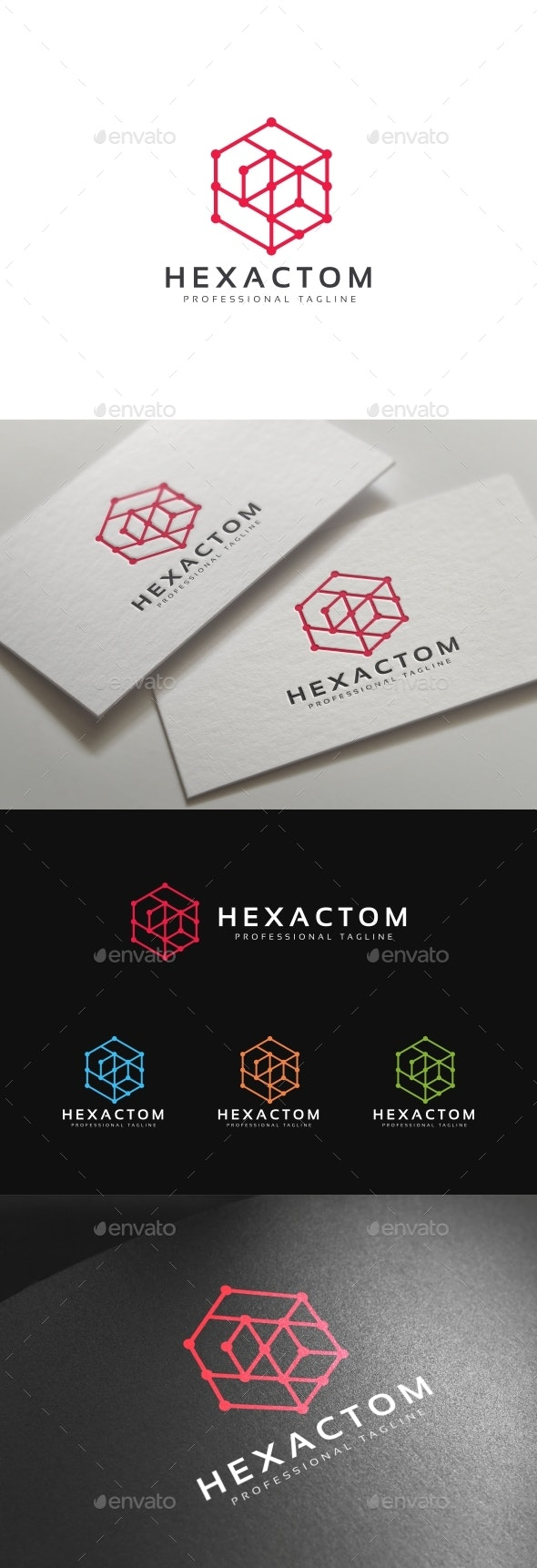 Hexagon Connect Logo - Abstract Logo Templates
