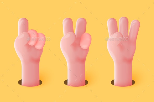 Vector Cartoon Hands - People Characters