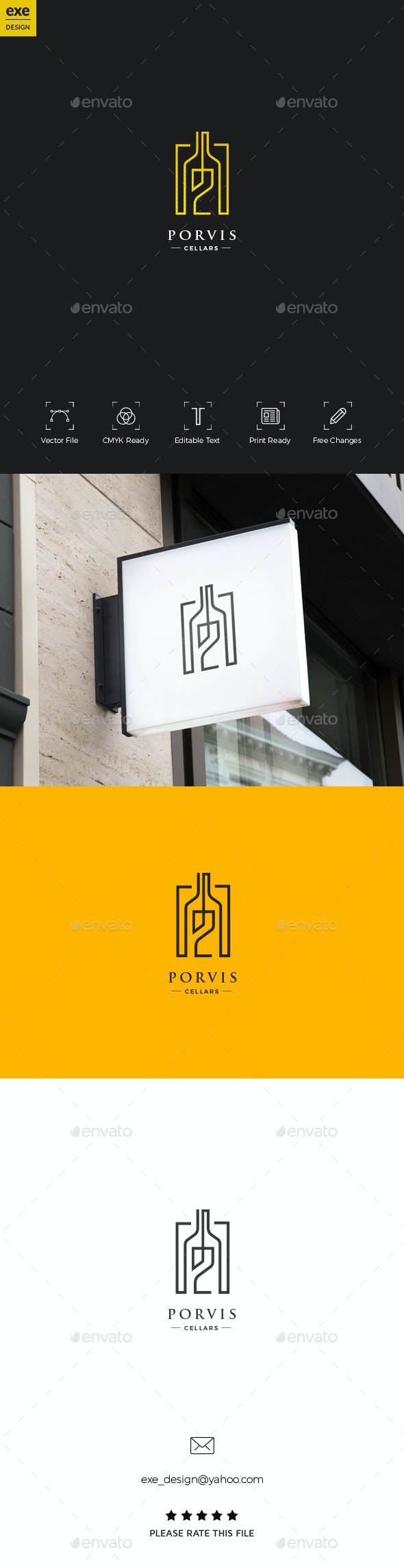 Wine Logo - Food Logo Templates