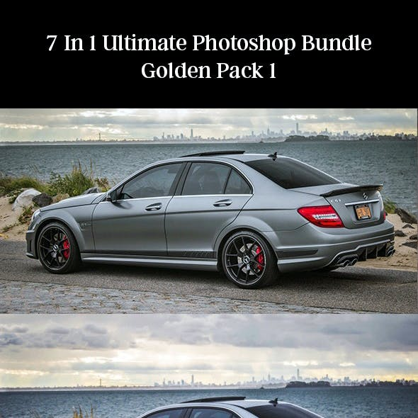 7 In 1 Golden Bundle Pack 1 Photoshop Action