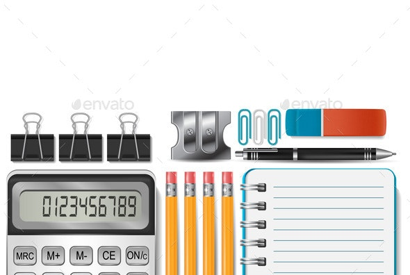 Office Supplies - Miscellaneous Vectors
