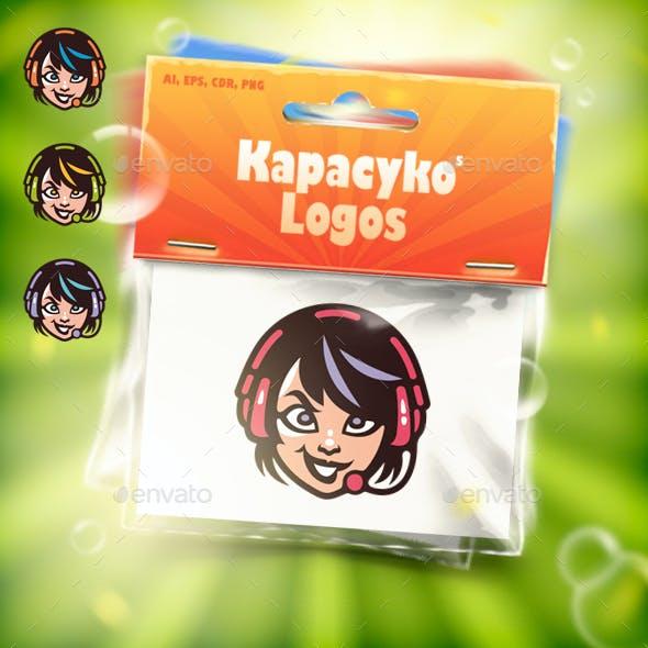Girl Game Streamer Logo