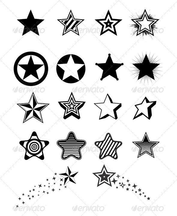 Stars design - Web Elements Vectors