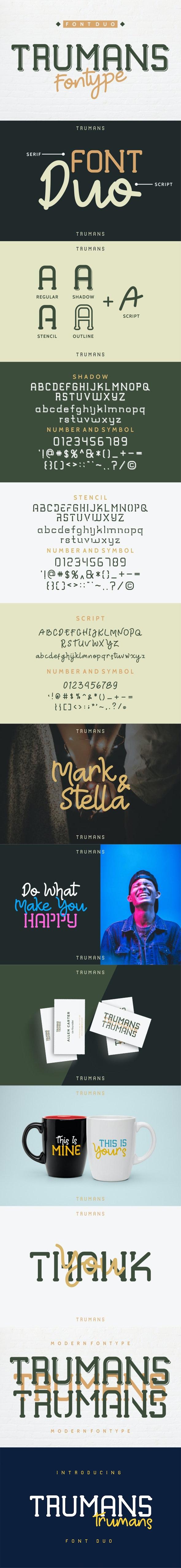 TRUMANS Duo - Sans-Serif Fonts
