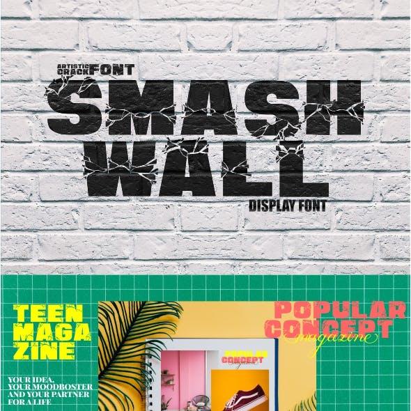 Smash Wall - Cracked Display Font