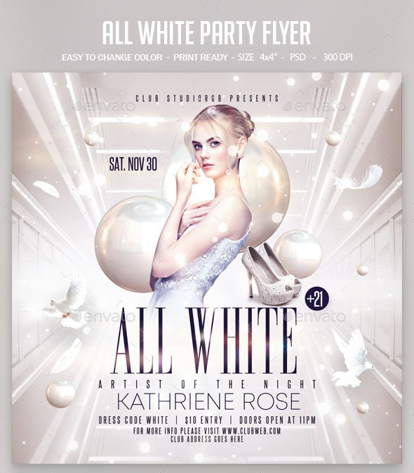 All White Party Flyer - Clubs & Parties Events