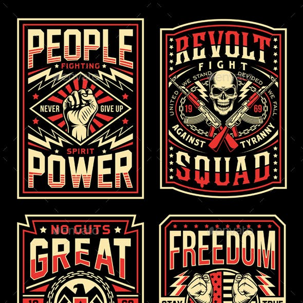 Vintage Propaganda T-Shirt Designs Collection