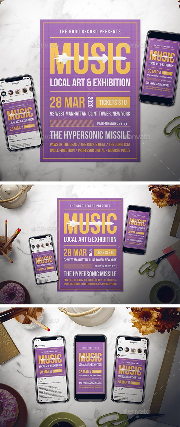 Indie Music Flyer Set - Clubs & Parties Events