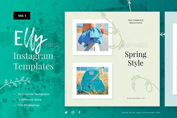 Elly Instagram Designs Vol.1 - Social Media Web Elements