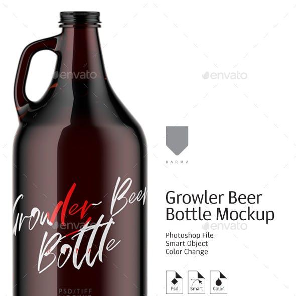 Growler Beer Bottle Mockup