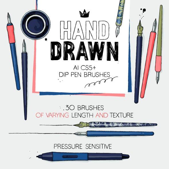 AI dip pen brushes
