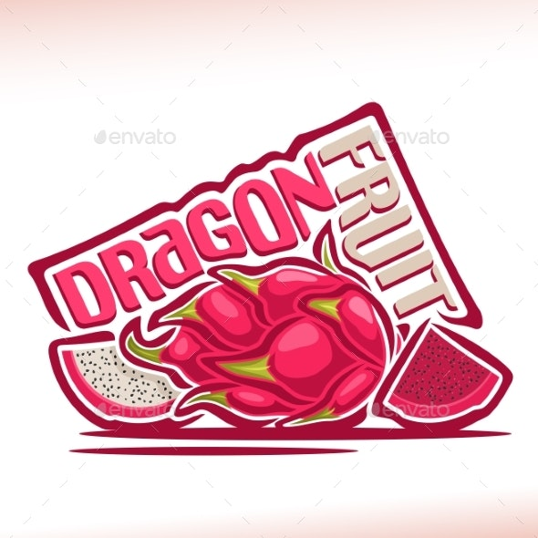 Vector Dragon Fruit - Food Objects
