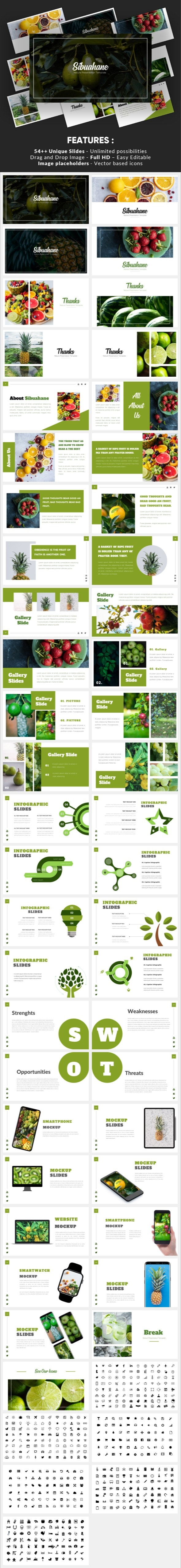 Sibuahane - Natural Google Slides Template - Google Slides Presentation Templates