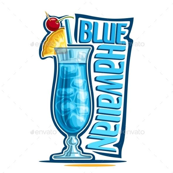 Vector Cocktail Blue Hawaiian - Food Objects