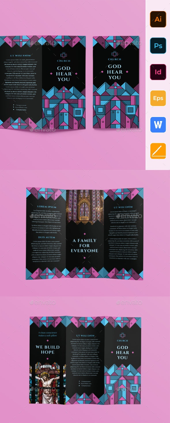 Church Trifold Brochure - Informational Brochures