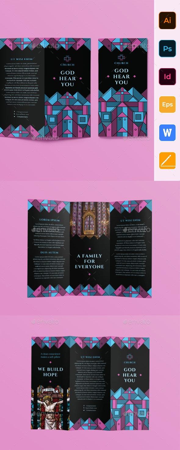 Church Trifold Brochure - Informational Brochures