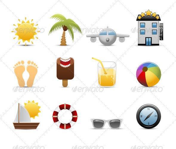 Design summer icons set - Seasons/Holidays Conceptual