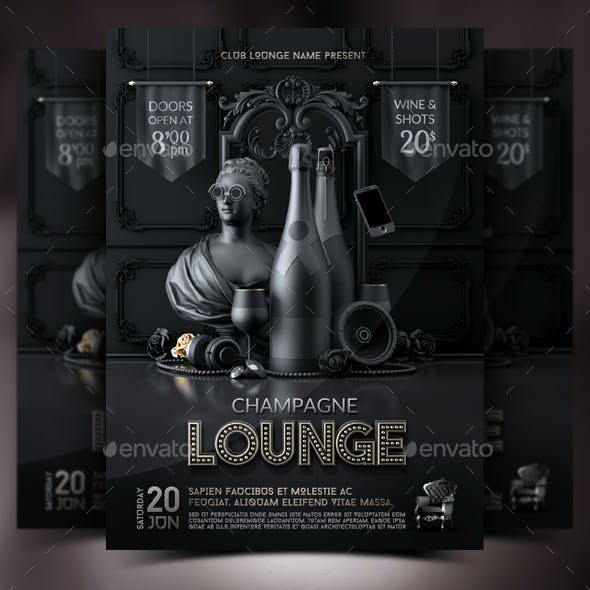 Champagne Vip Lounge Flyer