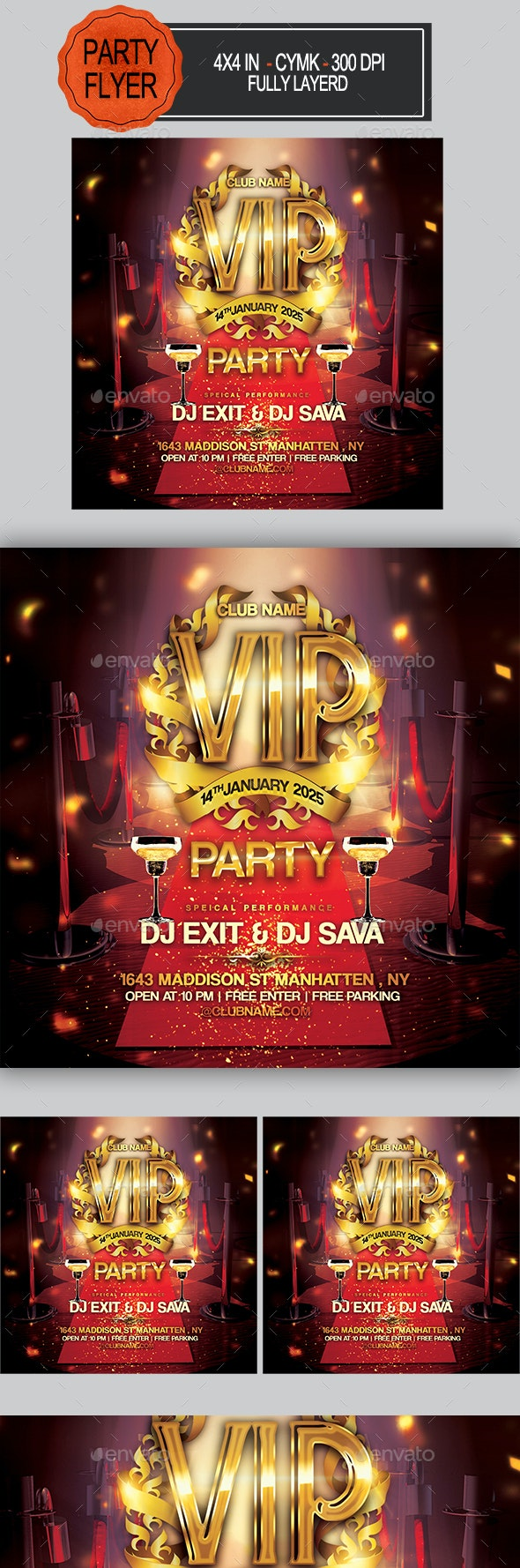 VIP Party Flyer - Clubs & Parties Events