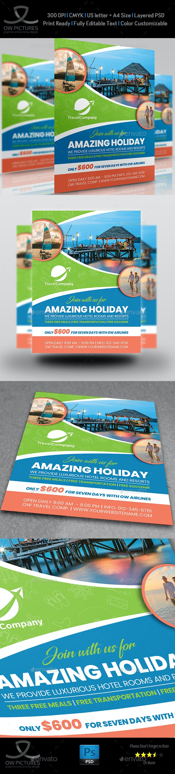 Tour and Travel Flyer Template Vol.4 - Commerce Flyers