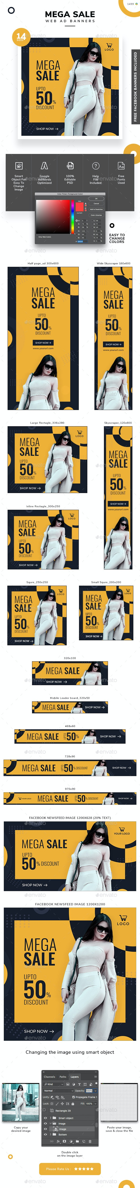 Sale Ad Banner Set - Banners & Ads Web Elements