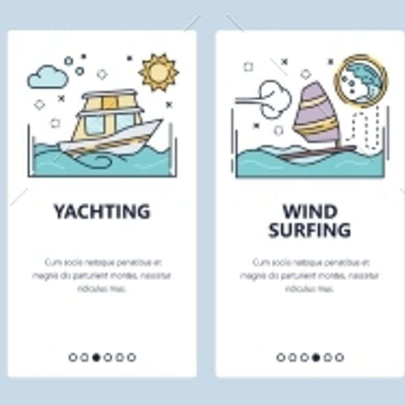 Mobile App Onboarding Screens Summer Vacation