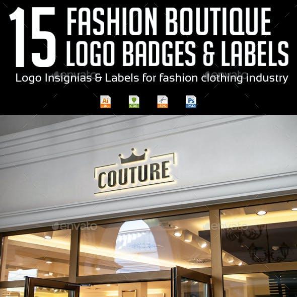 Fashion Boutique Logo Badges & Labels
