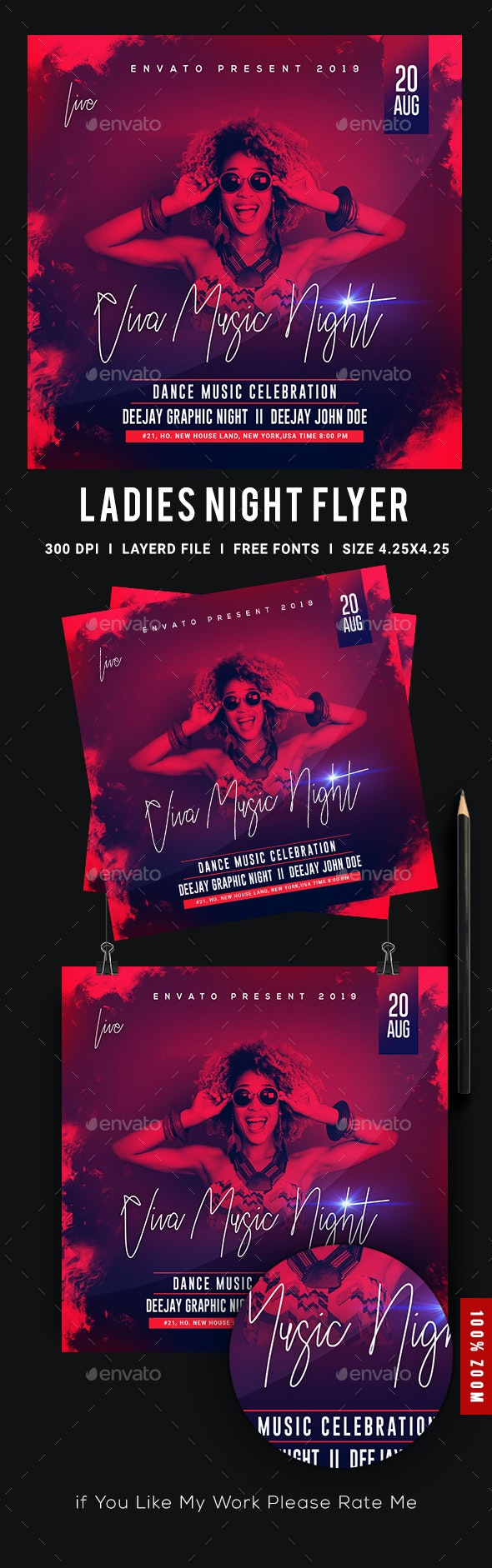 Viva Ladies Night Club Party Flyer - Clubs & Parties Events