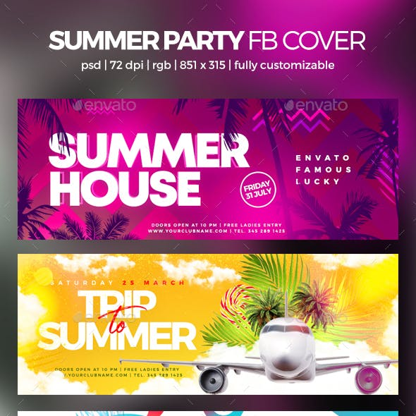 Summer Party Facebook Cover