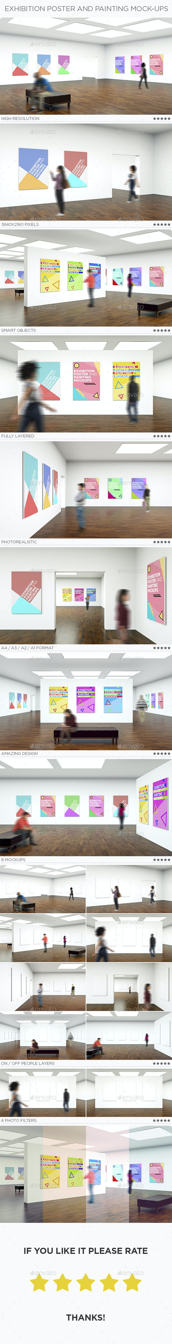Exhibition Poster and Painting Mock-Ups - Posters Print