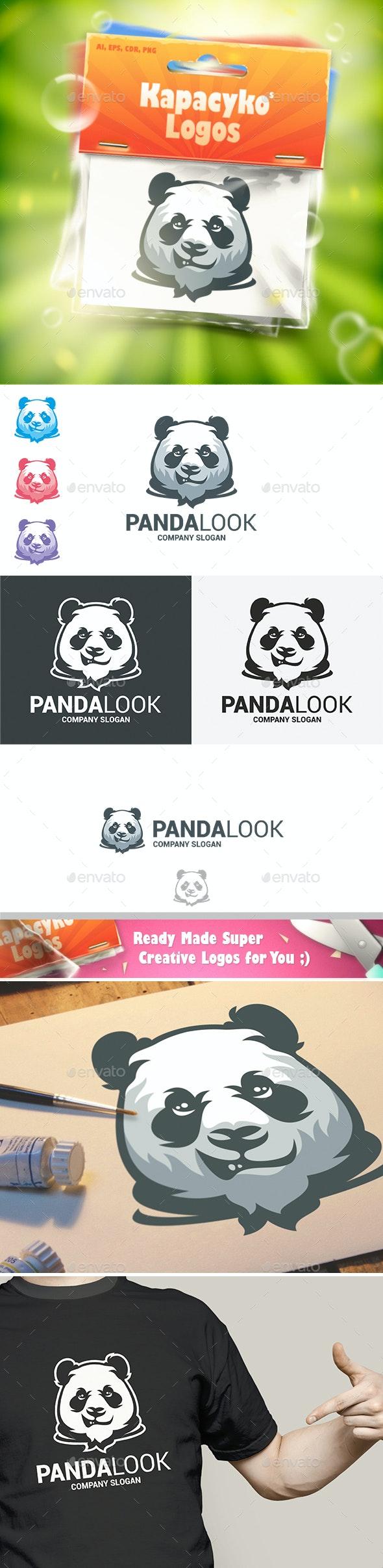 Panda Look Logo - Animals Logo Templates
