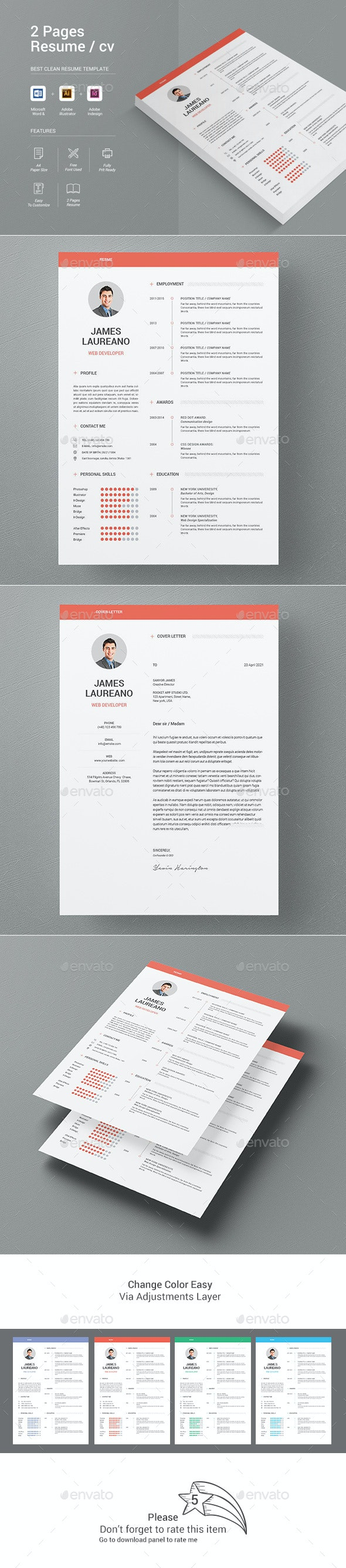 Resume - Stationery Print Templates
