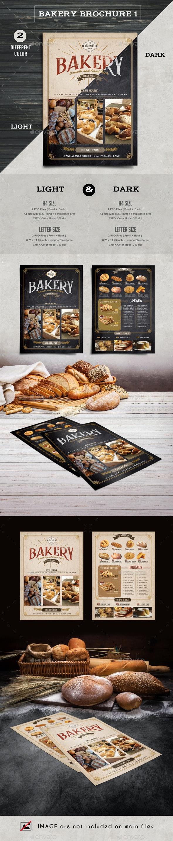 Bakery Brochure 1 - Print Product Mock-Ups