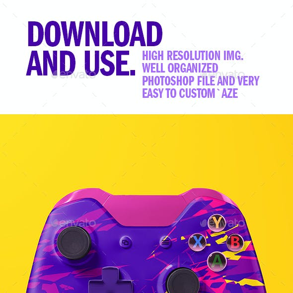 Realistic Game Controller Mockup