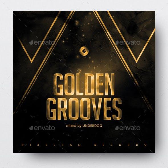 Golden Grooves - Music Album Cover Template