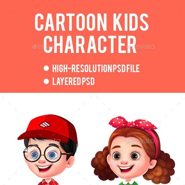 Cartoon Little Kids Character