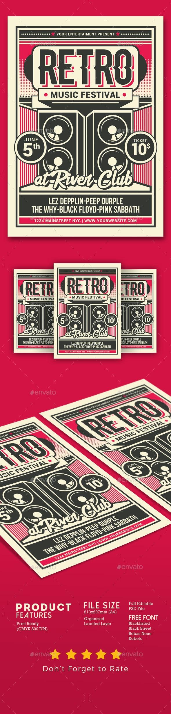Retro Music Festival - Events Flyers