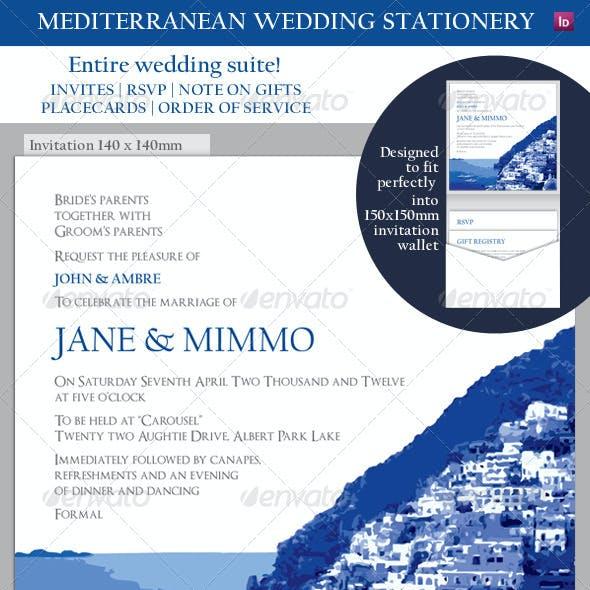 Mediterranean Wedding Invitation and Suite