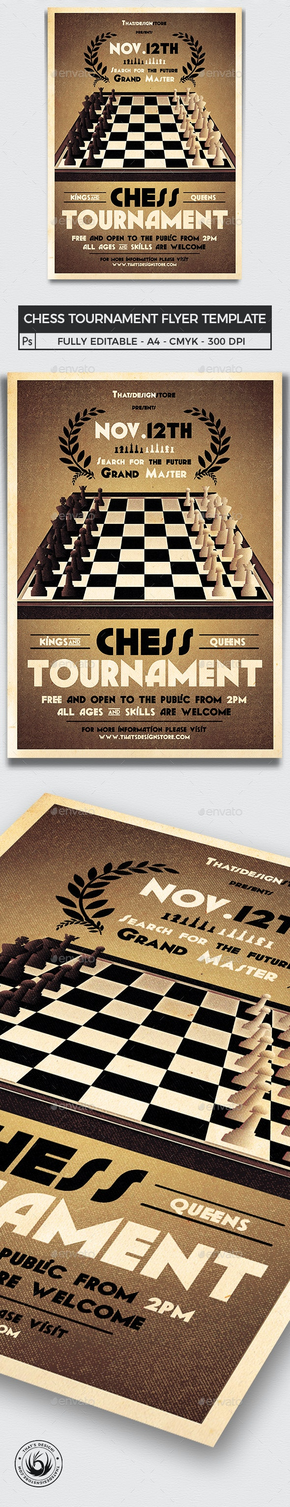 Chess Tournament Flyer Template - Miscellaneous Events