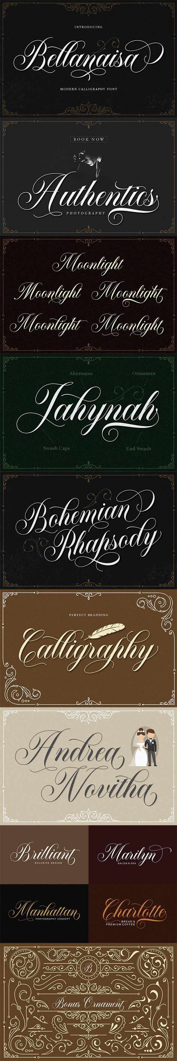 Bellanaisa Script - Calligraphy Script