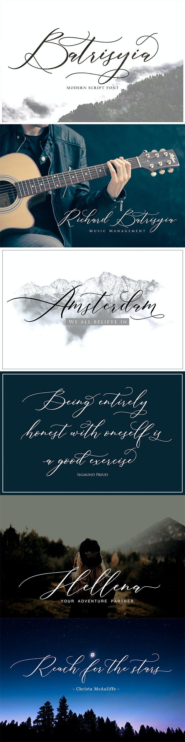 Batrisyia Script - Calligraphy Script