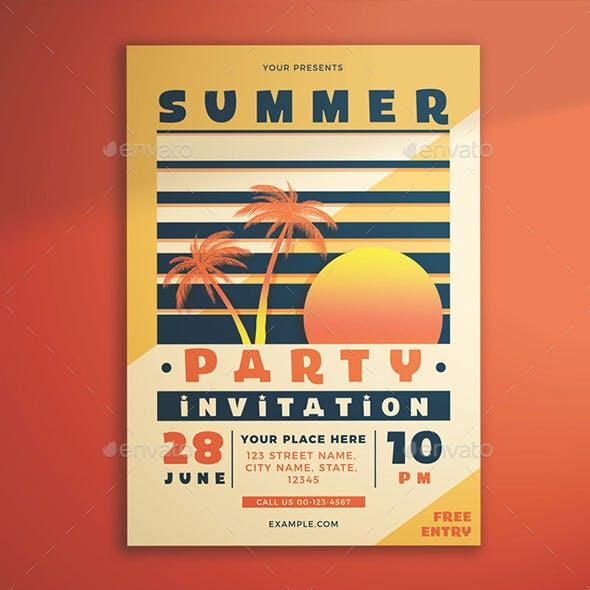 Summer Party Invitation Flyer