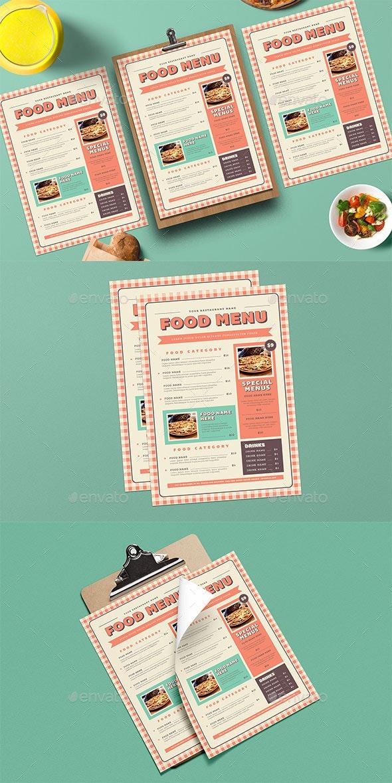 Retro Picnic Food Menu - Restaurant Flyers