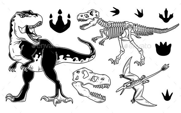 Set of Dinosaurs - Miscellaneous Characters