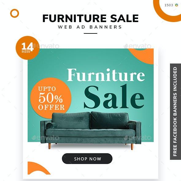 Furniture Web Banner Set