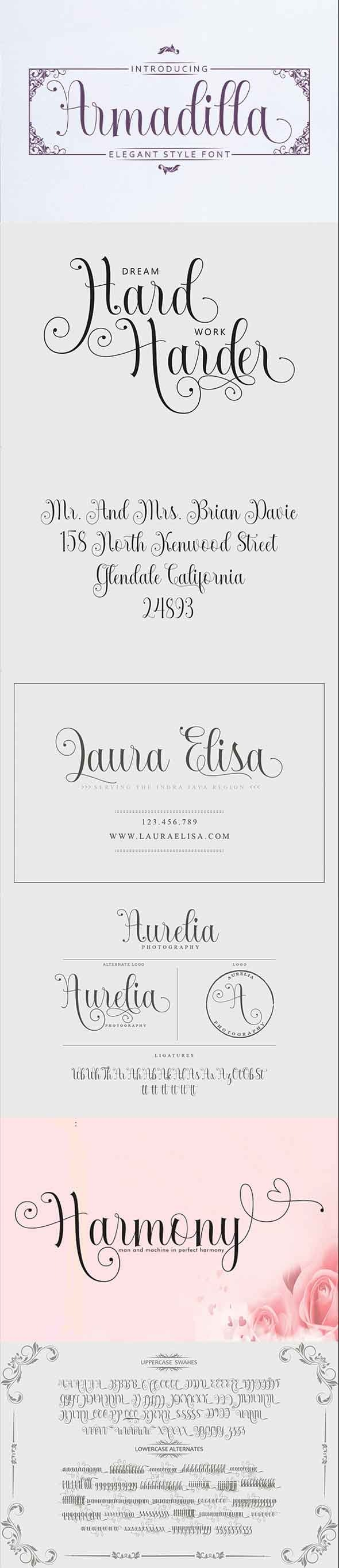 Armadilla - Script Fonts